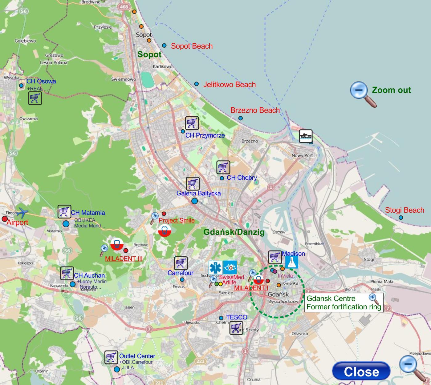 Gamlebyen gdansk kart